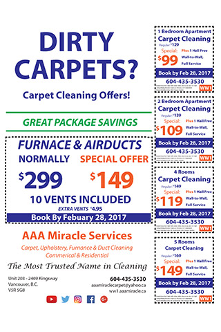 Carpet cleaning services in Vancouver